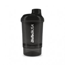 Шейкер BioTech Wave Plus Nano 300 мл+150 мл чёрный