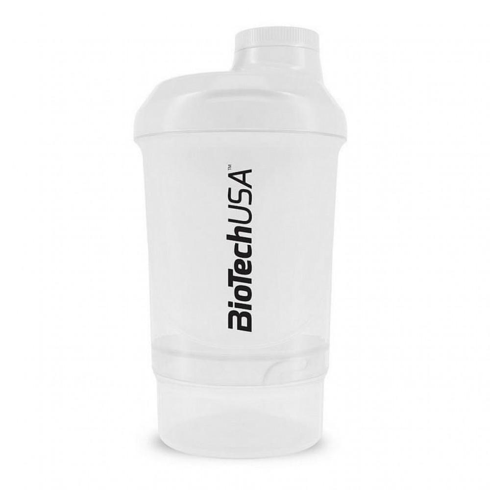 Шейкер BioTech Wave Plus Nano 300 мл+150 мл белый