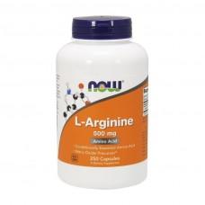 L-Arginine 500 mg NOW 250 капс