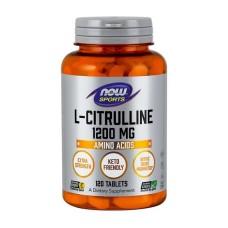 L-Citrulline 1200 mg NOW 120 таб
