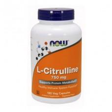 L-Citrulline 750 mg NOW 180 капс