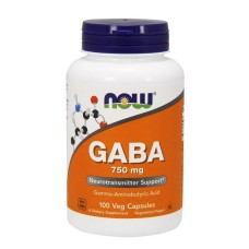 GABA 750 mg NOW 100 капс