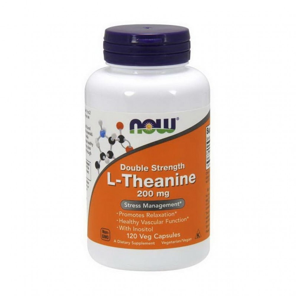 L-Theanine 200 mg NOW 120 капс