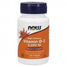 Vitamin D-3 5000IU NOW 120 капс