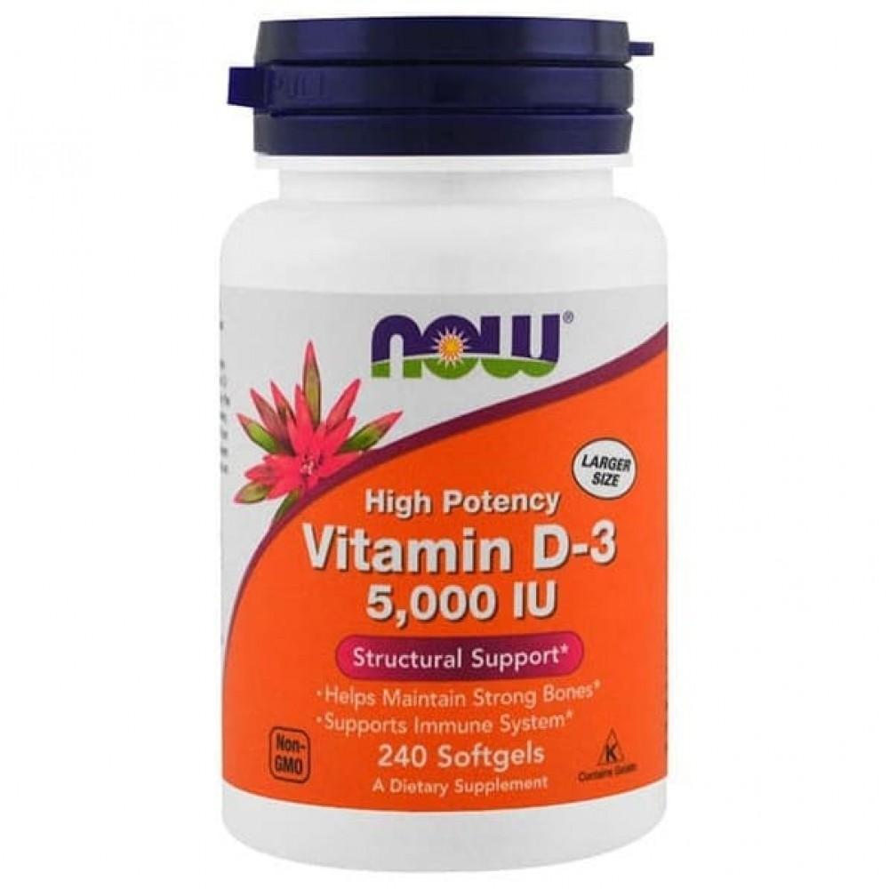 Vitamin D-3 (Витамин D-3) 5000IU NOW 240 капс